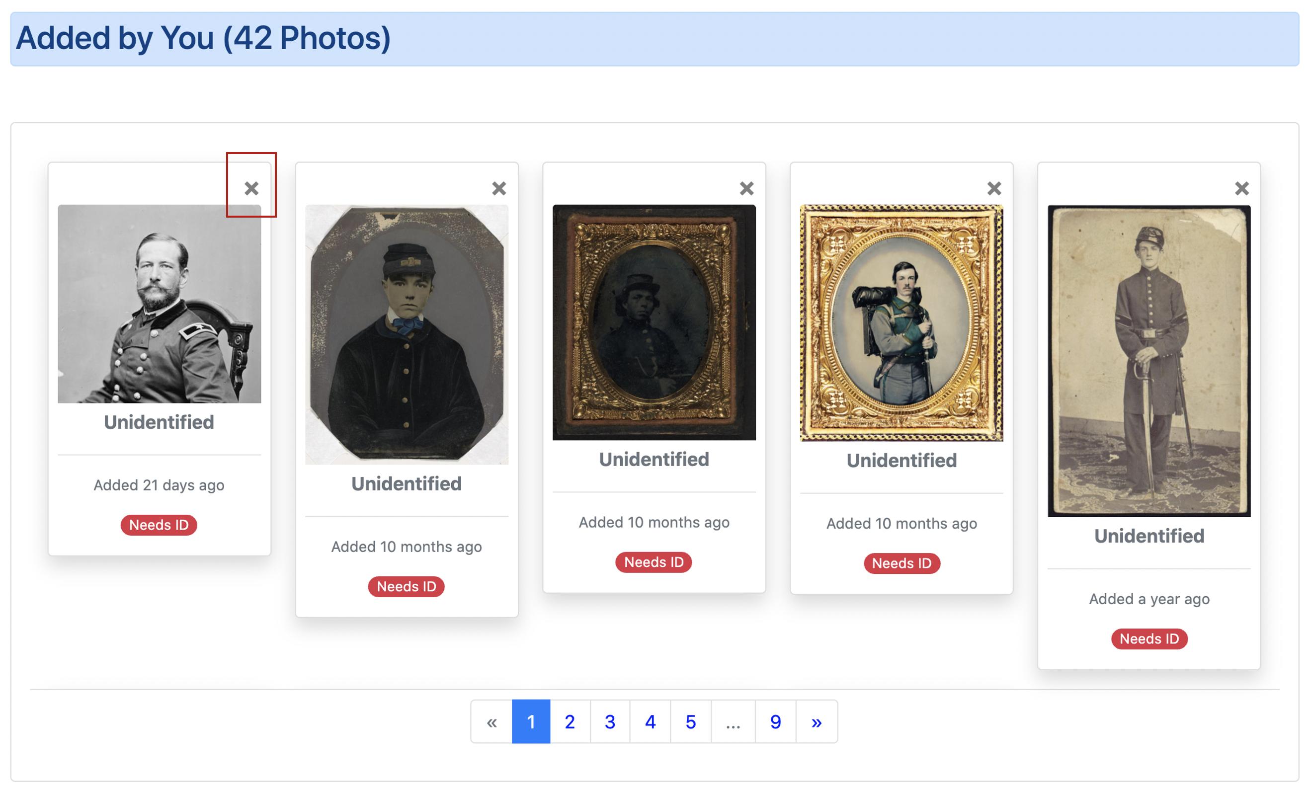 Photos on Dashboard